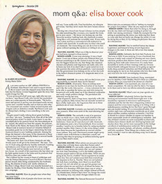 Q&A with Elisa Boxer in Raising Maine Magazine